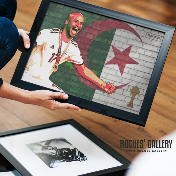 Adlene Guedioura Algeria AFCON winners 2019 custom art