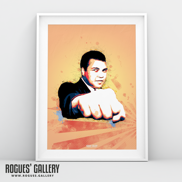 Muhammad Ali fist portrait A3 print boxer American World heavyweight Champion edit