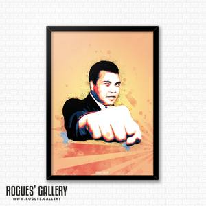 Muhammad Ali portrait A3 print boxer American World heavyweight Champion