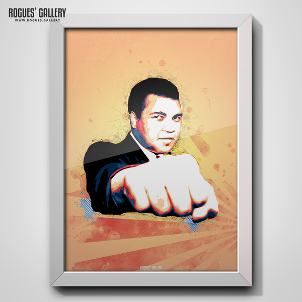 Muhammad Ali portrait The Greatest butterfly bee A3 print boxer American World heavyweight Champion legend