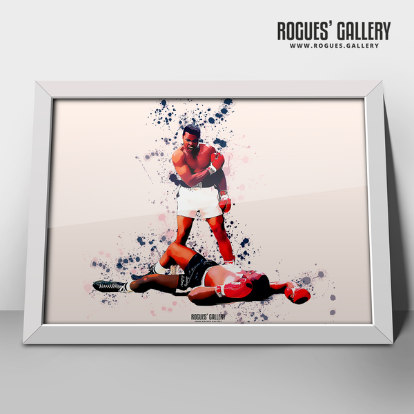 Muhammad Ali A3 print boxer American World heavyweight Champion Liston KO knockout edit
