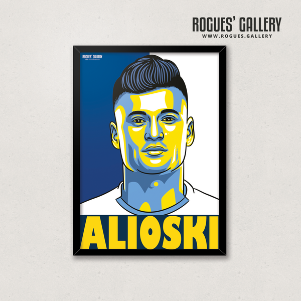 Alioski Leeds United FC defender art LUFC Elland Road