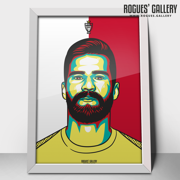 Alisson Becker Liverpool FC Anfield Art print A3 Champions Limited Edition Edit Champions Goalie