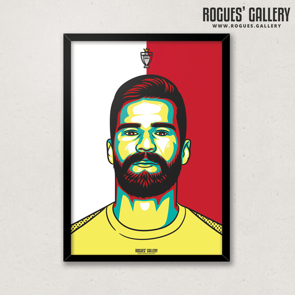 Alisson Becker Liverpool FC Anfield Art print A3 Champions Limited Edition Goalkeeper