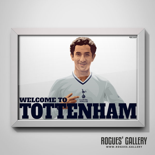 Ossie Ardiles Argentina Spurs Tottenham Hotspur Midfielder FA Cup THFC A3 print gift limited edition