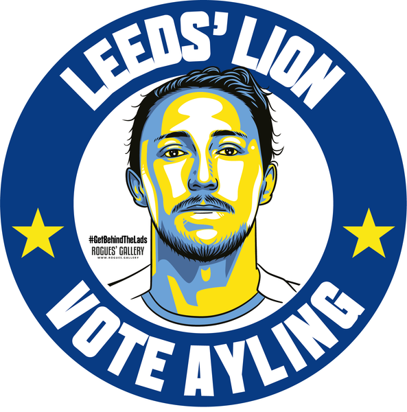 Luke Ayling Leeds United defender campaign stickers Vote #GetBehindTheLads