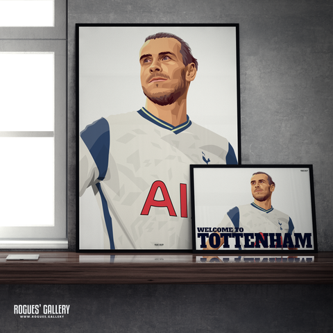 Gareth Bale Spurs welsh winger Welcome to Tottenham A3 Print and great poster