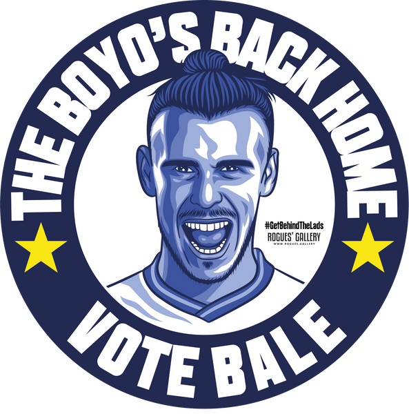 Gareth Bale stickers THFC Spurs Welsh winger Get Behind The Lads