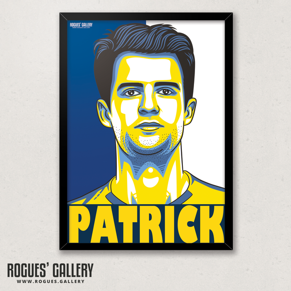 Patrick Bamford Leeds United LUFC striker A3 art print edit