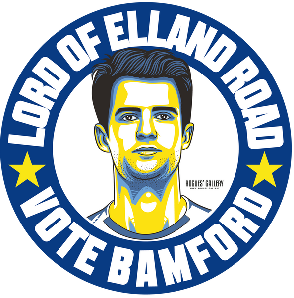 Patrick Bamford Leeds United striker beer mats Vote #GetBehindTheLads
