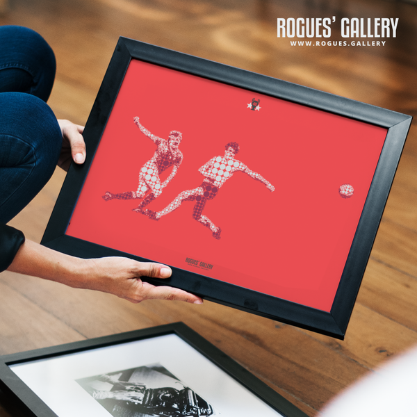 Colin Barrett Nottingham Forest European Cup Liverpool 1979 Goal art design minimal dots A3 print edit