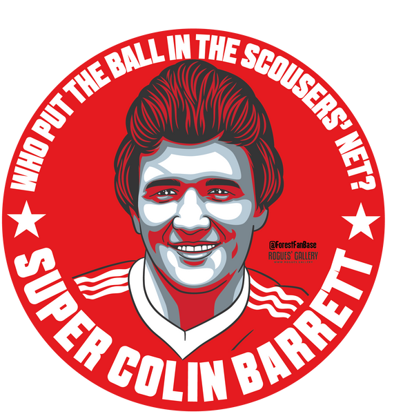 Colin Barrett Nottingham Forest Sticker European Cup Scouser net goal
