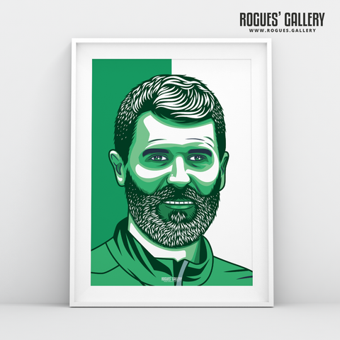 Roy Keane Republic of Ireland Assistant Manager A3 print edit