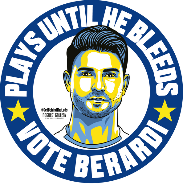 Gaetano Berardi Leeds United defender stickers Vote #GetBehindTheLads
