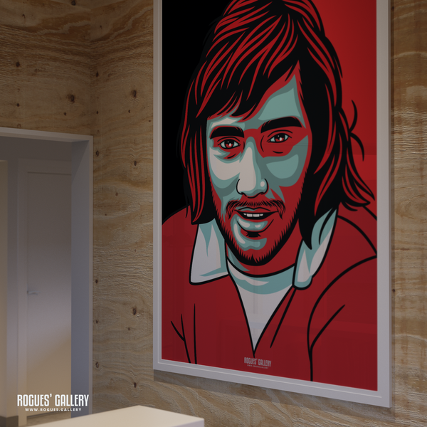 George Best Manchester United Northern Irish winger forward Old Trafford A0 poster playboy