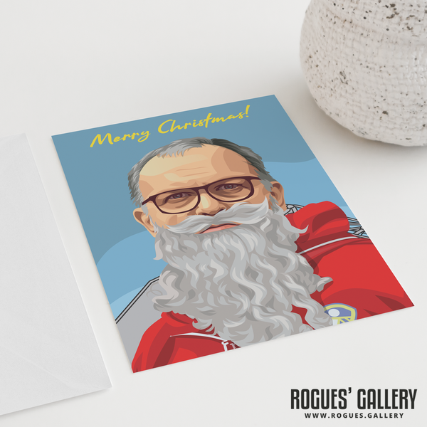 Marcelo Bielsa Beard greeting cards Christmas Xmas Leeds United LUFC