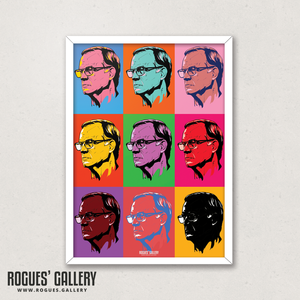 Leeds United manager Marcelo Bielsa pop art A3 print Rogues' Gallery