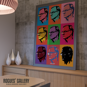 Leeds United manager Marcelo Bielsa pop art A0 print Rogues' Gallery