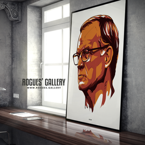 Leeds United manager Marcelo Bielsa portrait A0 print Rogues' Gallery edit superb