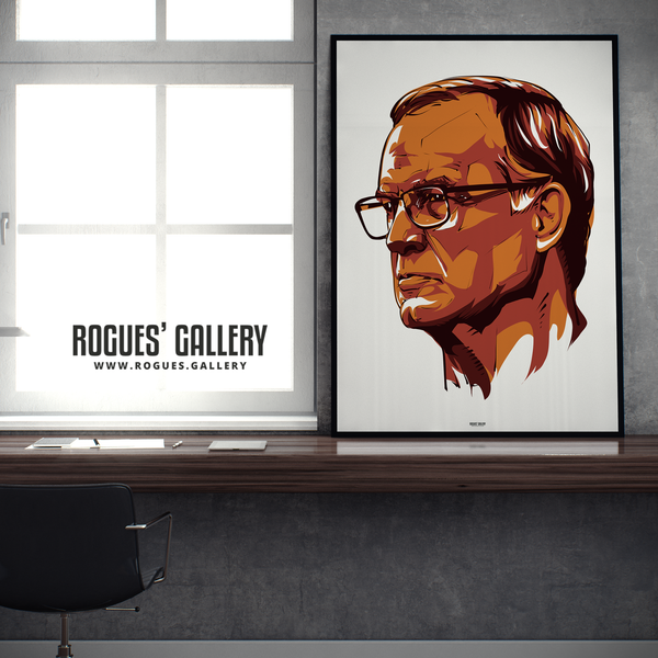 Leeds United manager Marcelo Bielsa portrait A1 print Rogues' Gallery