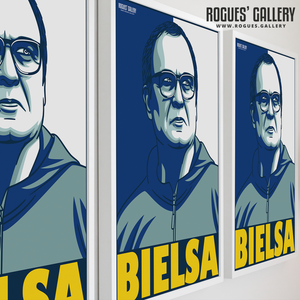 Marcelo Bielsa manager Leeds United Elland Road A3 art print boss