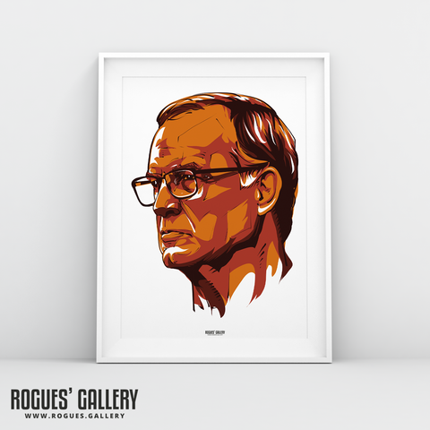 Leeds United manager Marcelo Bielsa portrait A3 print Rogues' Gallery