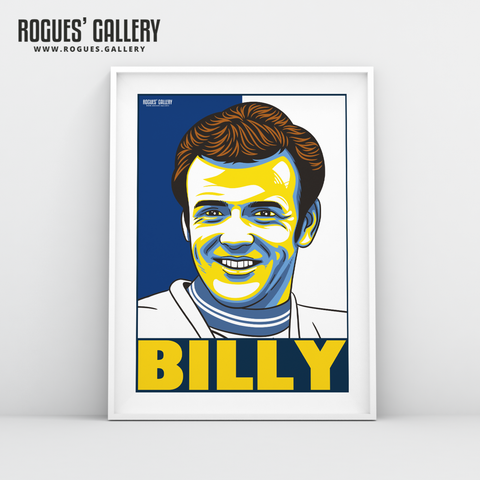 Billy Bremner Leeds United Elland Road LUFC midfielder A3 art print