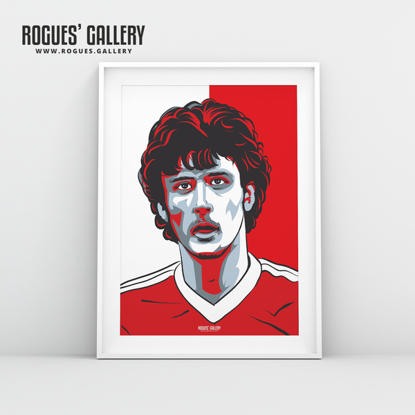 Garry Birtles Nottingham Forest forward A3 print edit design