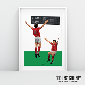 Garry Birtles Robbo John Robertson Nottingham Forest goal League Cup Final Wembley A3 art print limited edition great