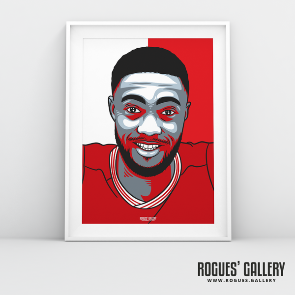 Tyler Blackett centre half left back Nottingham Forest FC The City Ground NFFC A3 print