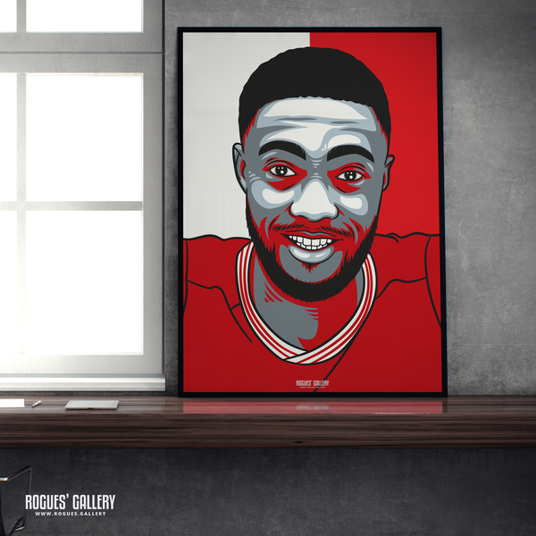 Tyler Blackett centre half left back Nottingham Forest FC The City Ground NFFC A1 print