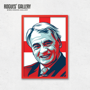 Sir Bobby Robson England manager boss World cup edit Three Lions legend A3 print