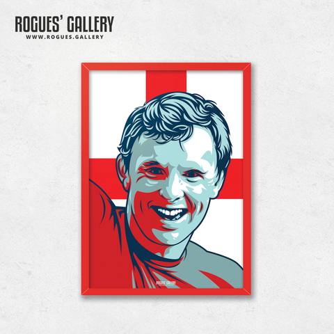 Bobby Moore West Ham Fulham England World Cup 1966 winner A3 print edit
