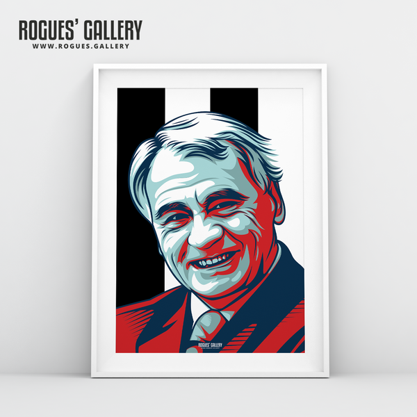 Sir Bobby Robson Toon army edits A3 prints manager football