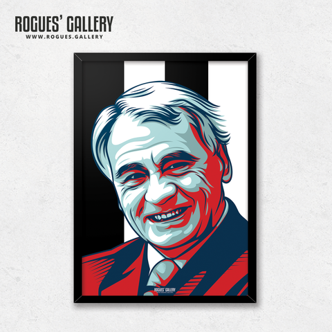 Sir Bobby Robson Toon army edit St James' Park legend A3 print