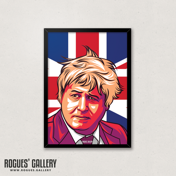 Boris Johnson Conservative Prime Minister A3 art Print edits Westminster Union Jack