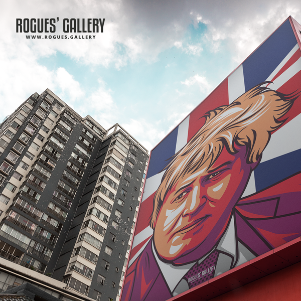 Boris Johnson design on wall A3 Print