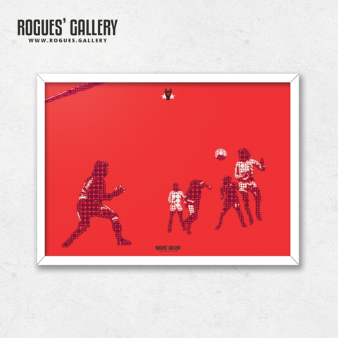 Ian Bowyer Nottingham Forest European Cup Cologne 1979 Goal minimal dots A3 print