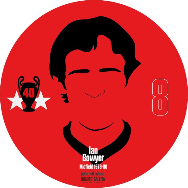 Ian Bowyer midfield Nottingham Forest Miracle Men stickers City Ground European Cup 1979 1980
