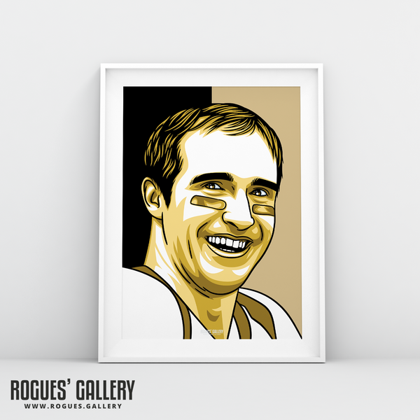 Drew Brees New Orleans Saints quarterback A3 Print edit