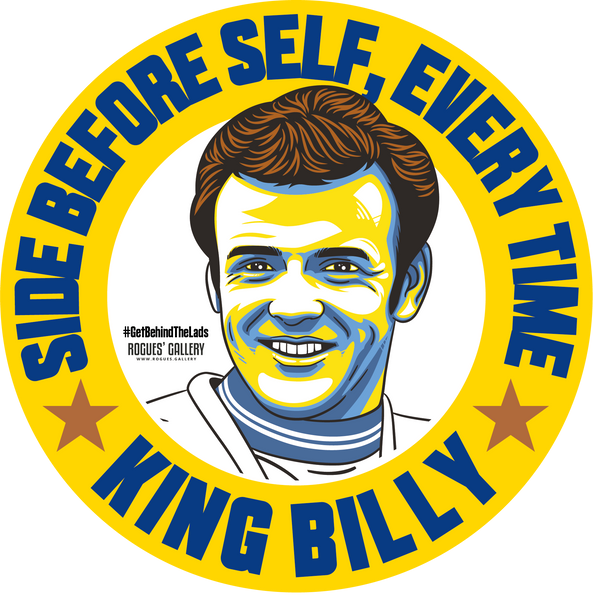 Billy Bremner Leeds United midfielder Manager stickers Vote #GetBehindTheLads El Loco