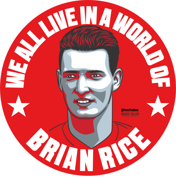 Brain Rice Nottingham Forest winger Deluxe stickers #GetBehindTheLads