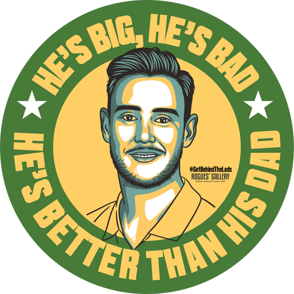 Stuart Broad Cricketer Notts England Test fast bowler beer mats better than his dad barmy army #GetBehindTheLads