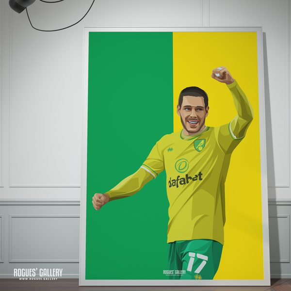Emiliano Buendia Norwich City midfielder NCFC Carrow Road A0 icon print