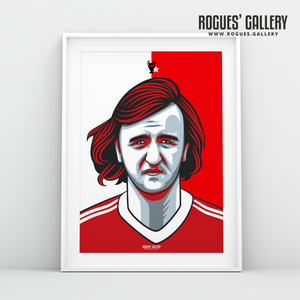 Kenny Burns Nottingham Forest defender A3 print edit design
