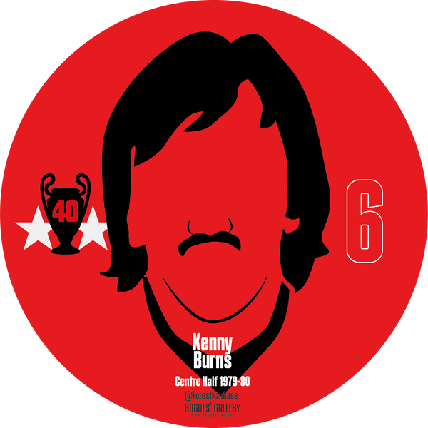 Kenny Burns centre half Nottingham Forest Miracle Men stickers City Ground European Cup 1979 1980