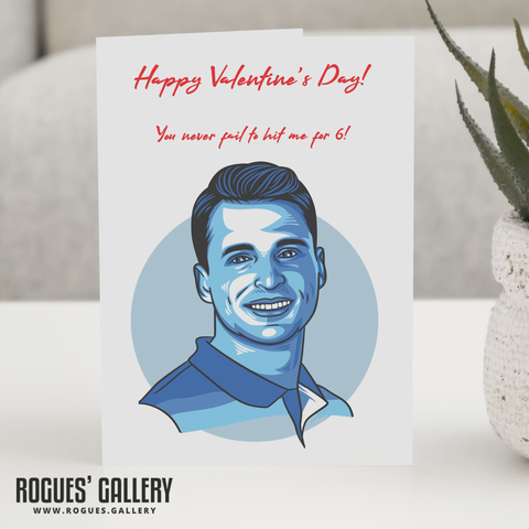 Jos Buttler England Cricket Valentine's Day Card hit for 6