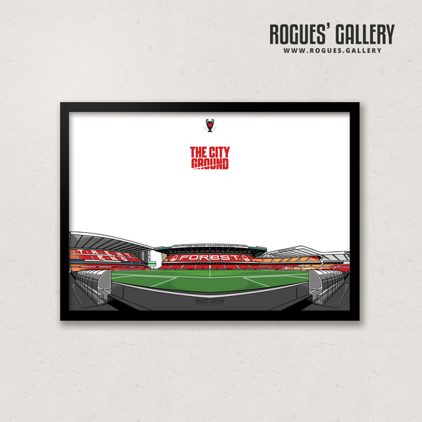 The City Ground NG2 Nottingham Forest A3 Prints frame