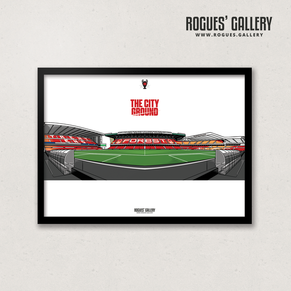 The City Ground NG2 Nottingham Forest A3 Print