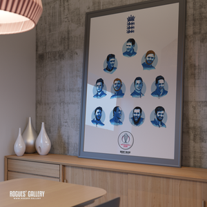 England Cricket World Cup CWC2019 Winners art print A0 team huge print design team